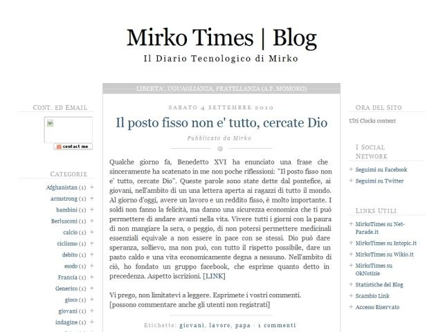 Anteprima mirkotimes.blogspot.com