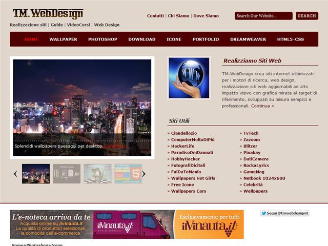 Anteprima www.tmwebdesign.it