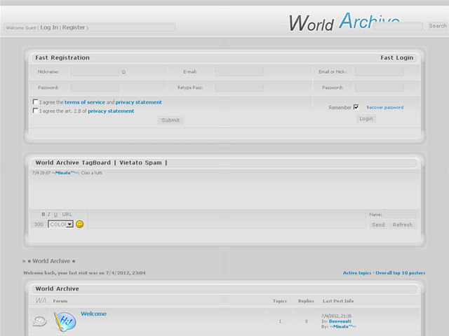 Anteprima world-archive.forumcommunity.net