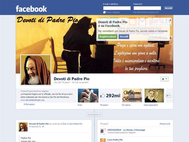 Anteprima www.facebook.com/devotidipadrepio