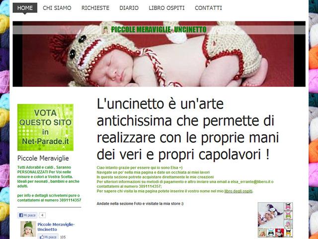 Anteprima www.piccolemeraviglie-uncinetto.it