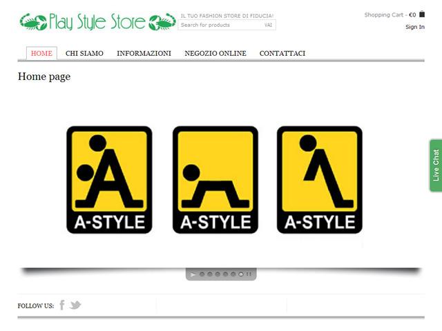 Anteprima www.playstylestore.it