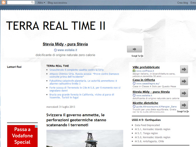 Anteprima terrarealtime2.blogspot.it