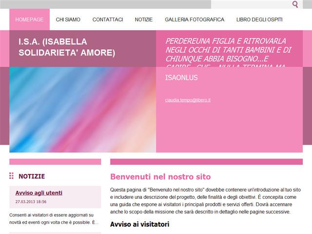 Anteprima www.isaonlus.it