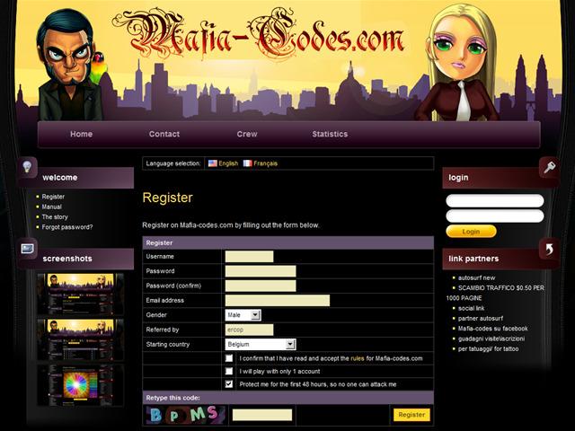 Anteprima www.mafia-codes.com/register/ercop