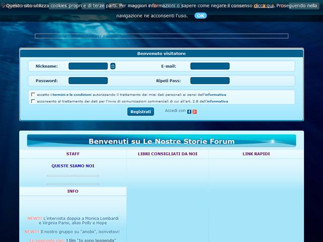 Anteprima www.lenostrestorie.forumfree.it