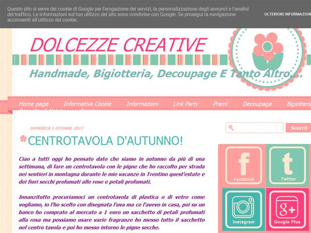 Anteprima dolcezzecreative.blogspot.it