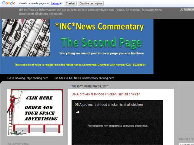 Anteprima incnews-secondpage.blogspot.nl