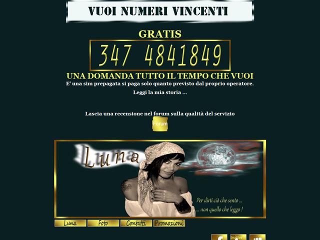 Anteprima www.lalunadellecartomanti.it