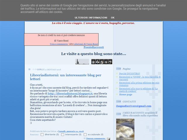 Anteprima sognodiscrivere.blogspot.com