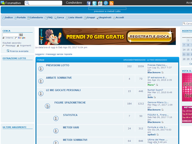 Anteprima lottomatematico.forumattivo.it