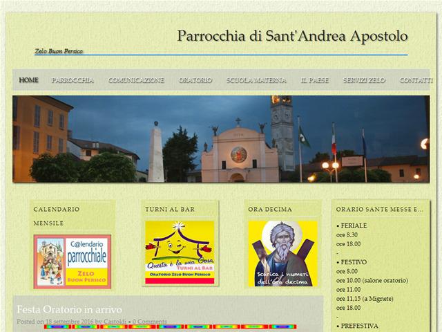 Anteprima www.parrocchiasantandreazelo.it