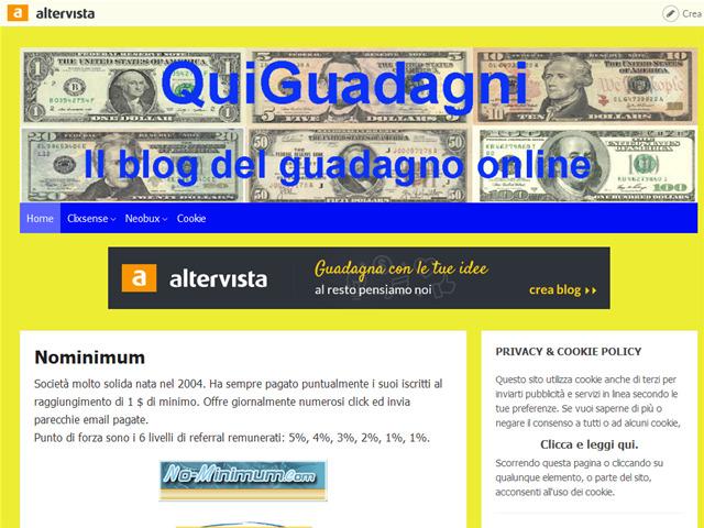 Anteprima quiguadagni.altervista.org