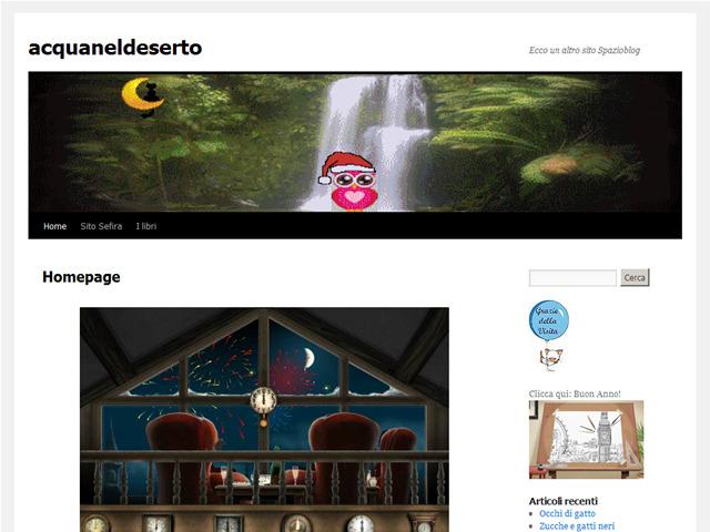 Anteprima acquaneldeserto.spazioblog.it