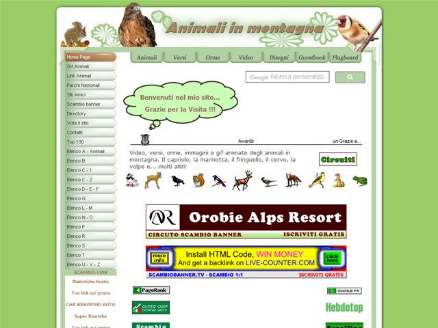 Anteprima www.animaliinmontagna.it