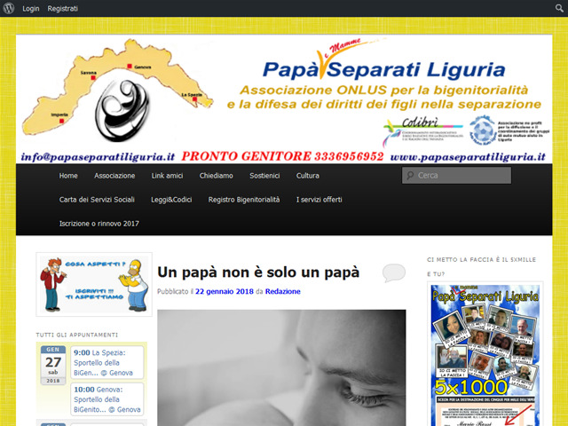Anteprima www.papaseparatiliguria.it