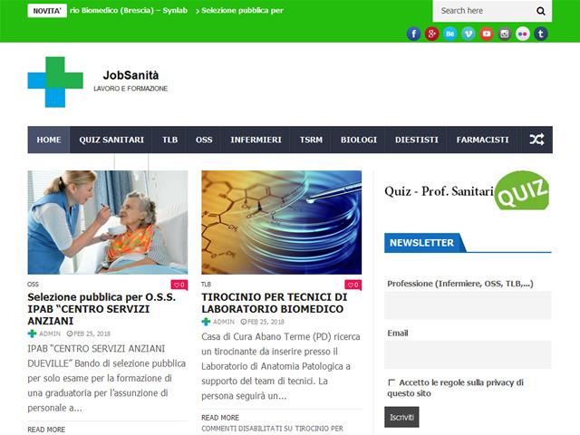 Anteprima www.jobsanita.it