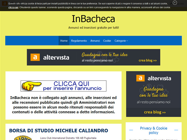 Anteprima www.inbacheca.altervista.org