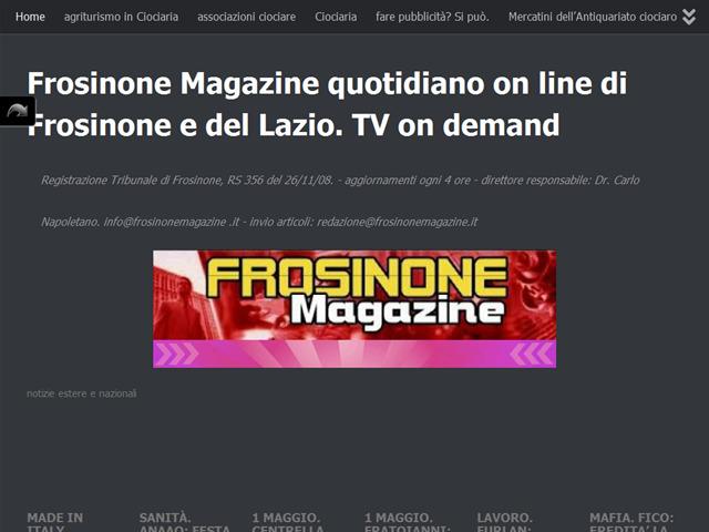 Anteprima www.frosinonemagazine.it