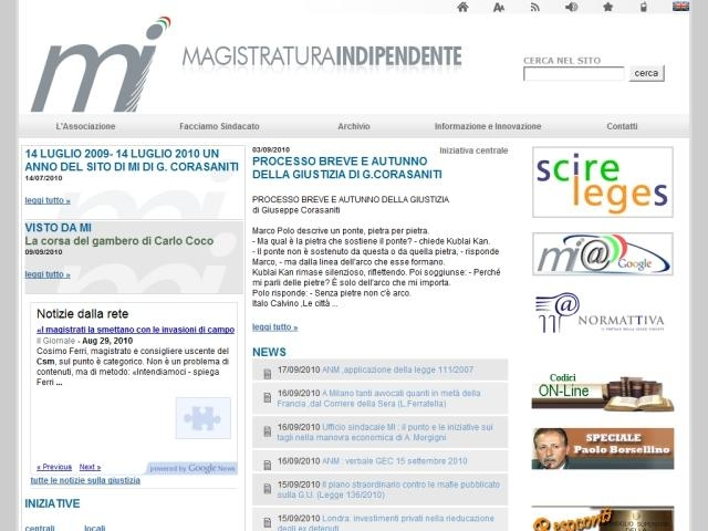 Anteprima www.magistraturaindipendente.it/mi