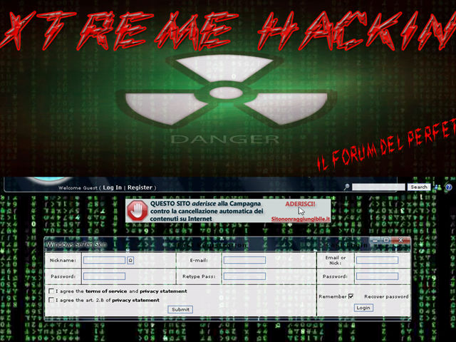 Anteprima extremehack.forumfree.it
