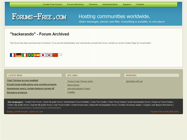 Anteprima hackerando.forums-free.com