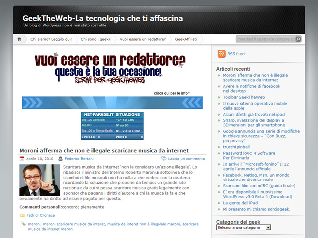 Anteprima thegeeking.wordpress.com