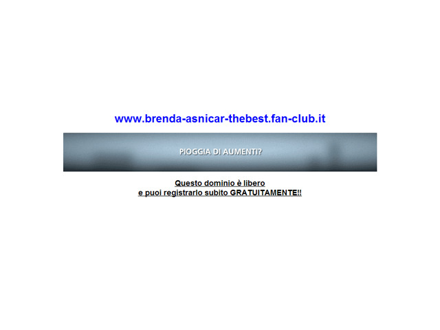 Anteprima www.brenda-asnicar-thebest.fan-club.it