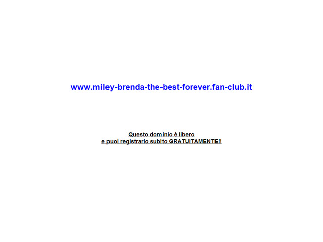 Anteprima www.miley-brenda-the-best-forever.fan-club.it