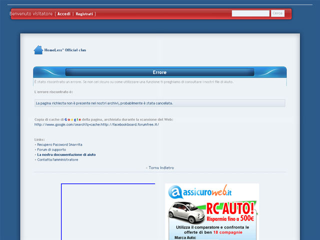 Anteprima facebookboard.forumfree.it