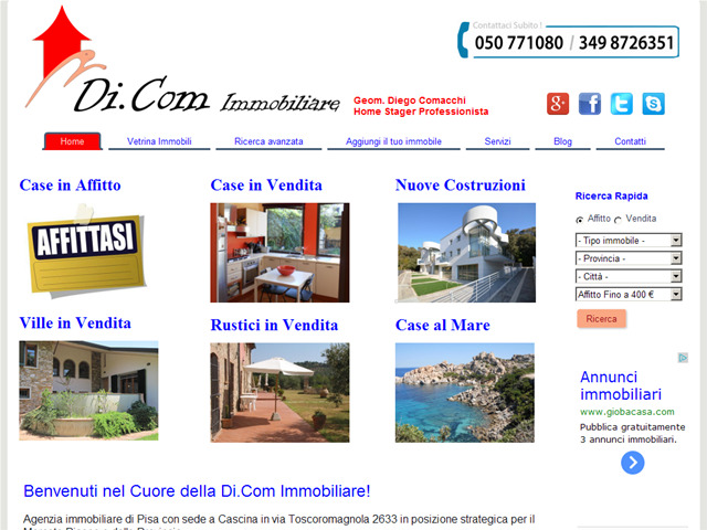 Anteprima www.immobiliaredicom.it