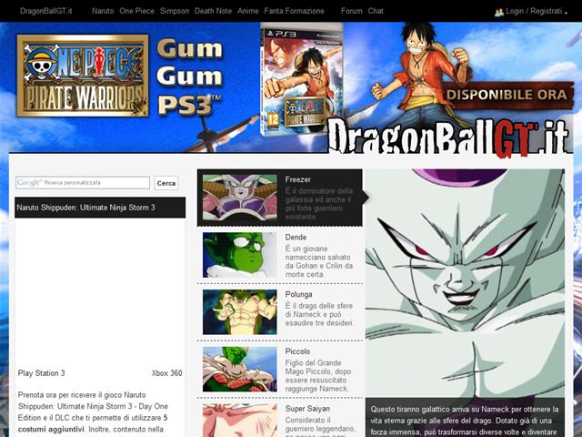 Anteprima www.dragonballgt.it