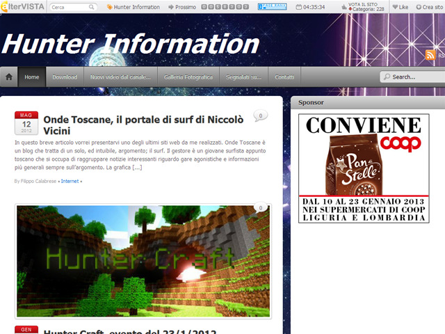 Anteprima hunterinformation.it