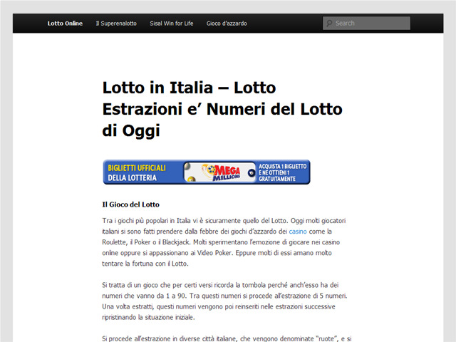 Anteprima www.lotto2.it
