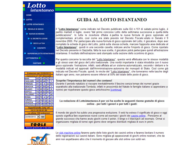 Anteprima www.lottoistantaneo.it