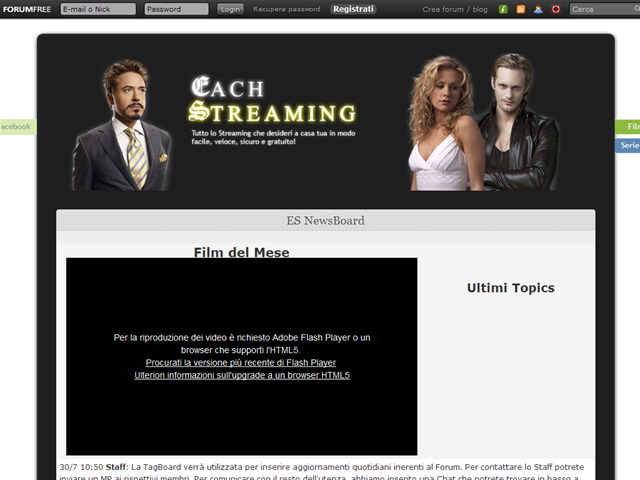 Anteprima eachstreaming.forumfree.it