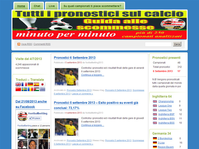Anteprima footballbetting2013.wordpress.com
