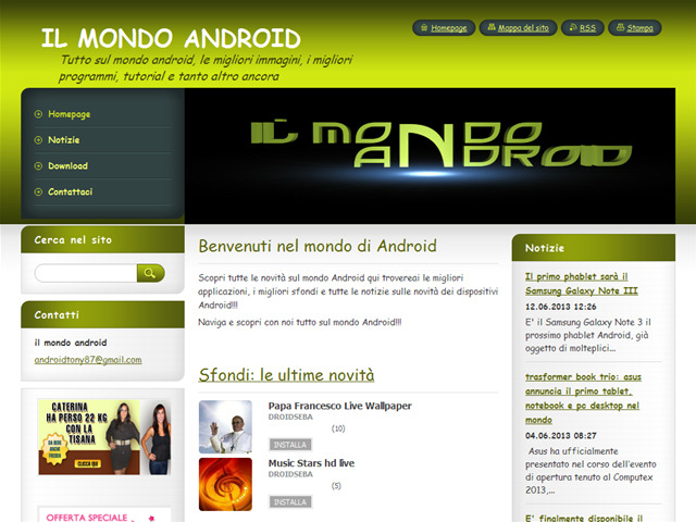 Anteprima ilmondoandroid.webnode.it