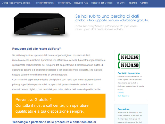 Anteprima www.datarecoveryservice.it