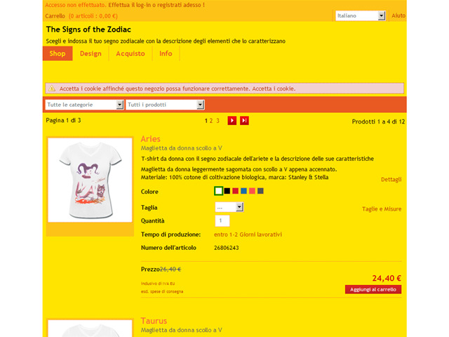 Anteprima chiliszodiac.spreadshirt.it