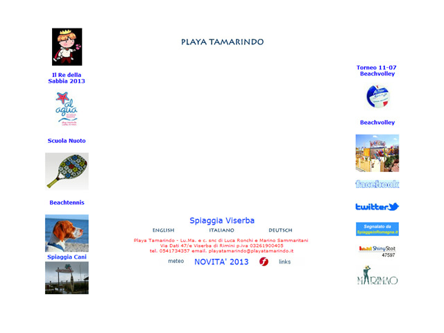 Anteprima www.playatamarindo.it