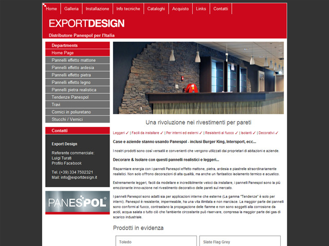 Anteprima www.exportdesign.it