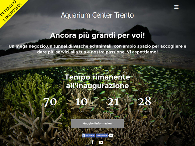 Anteprima www.aquariumcentertrento.it