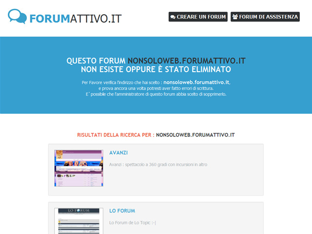 Anteprima nonsoloweb.forumattivo.it