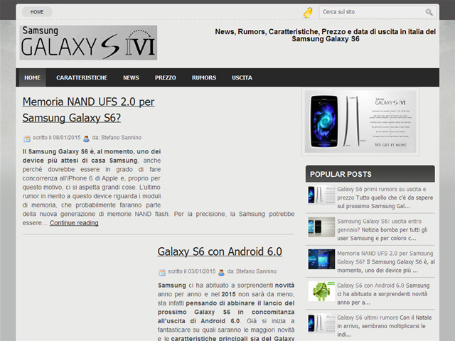 Anteprima www.galaxy-s6.it