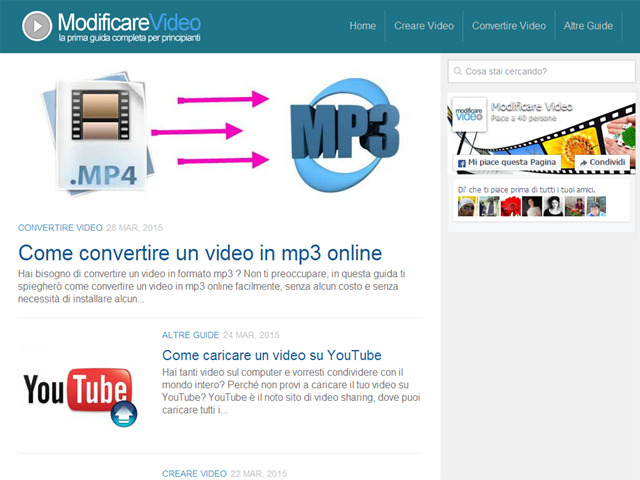 Anteprima www.modificarevideo.it