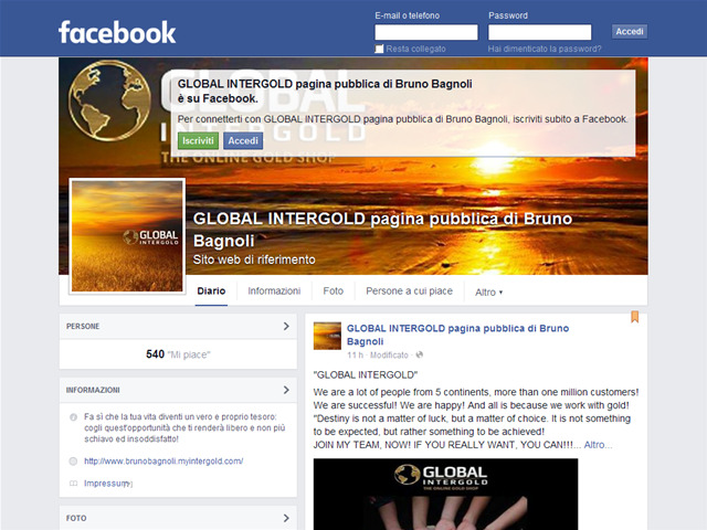 Anteprima www.facebook.com/pages/global-intergold-pagina-pubblica-di-bruno-bagnoli/1596276707300514