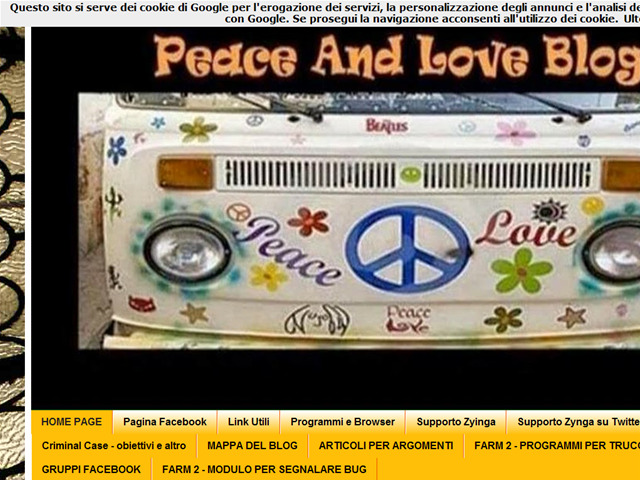 Anteprima peaceforloveblog.blogspot.it
