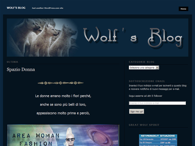 Anteprima mioblogwolf.wordpress.com