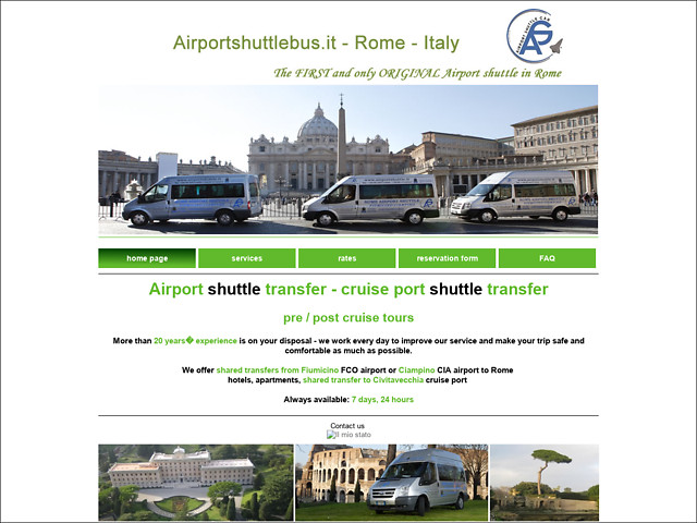 Anteprima www.airportshuttlebus.it
